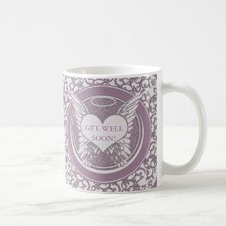 Mug Obtenez le puits bientôt avec des ailes d'ange