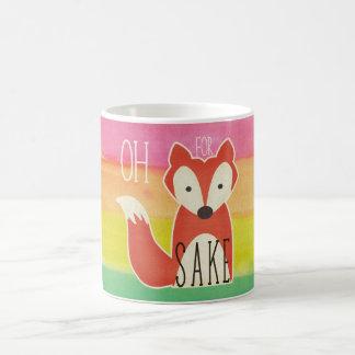 Mug Oh pour des rayures d'aquarelle de saké de Fox