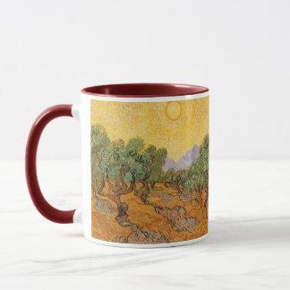 Mug Oliviers, ciel jaune et Sun, Vincent van Gogh