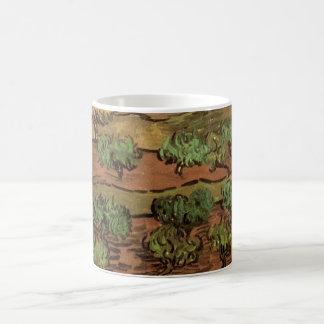 Mug Oliviers de Van Gogh contre une pente d'une