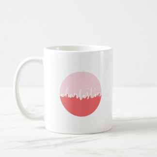 Mug Ombre rose de Charleston, la Caroline du Sud |