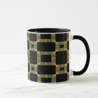 Mug Or et carrés noirs