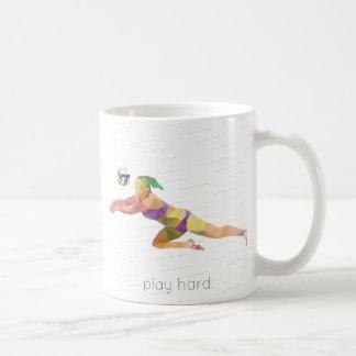 Mug Origami dur de volleyball de jeu