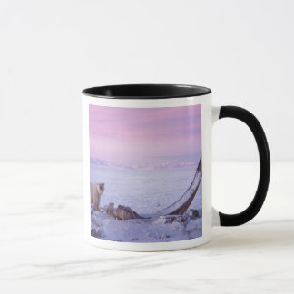 Mug Ours blanc avec la carcasse de baleine de bowhead