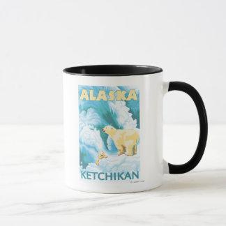 Mug Ours blancs et CUB - Ketchikan, Alaska