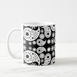 Mug Paisley noir et blanc