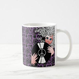 Mug Paix, amour et vinyle