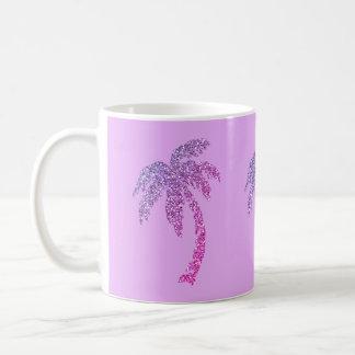 Mug Palmiers pourpres pourpres/tasse de thé café blanc