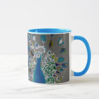 Mug Paon impressionniste contemporain du © P Wherrell