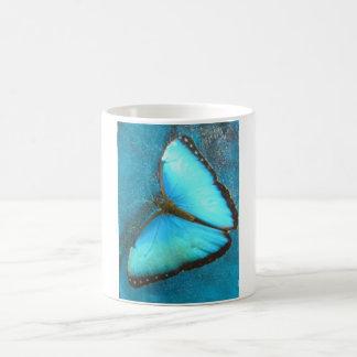 Mug Papillon bleu tropical