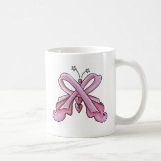 Mug Papillon rose d'espoir de ruban