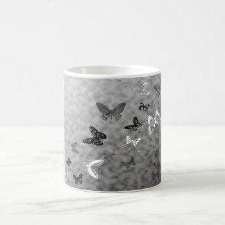Mug Papillons noirs de blanc de n