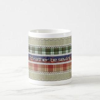 Mug Passe-temps de couture - tissu et points
