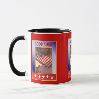Mug Patriotiques américains, défilent le drapeau