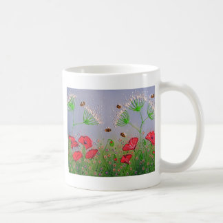 Mug Pavots et abeilles