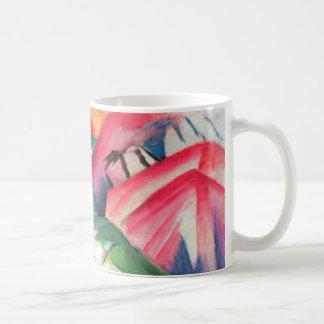 Mug Paysage de montagnes par Franz Marc, cubisme