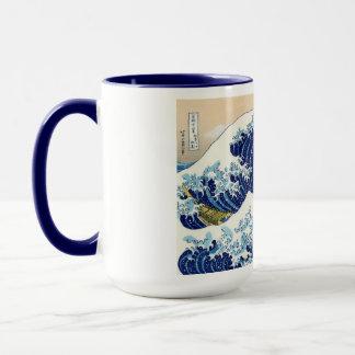 Mug Paysage oriental frais de vue de Hokusai Fuji de