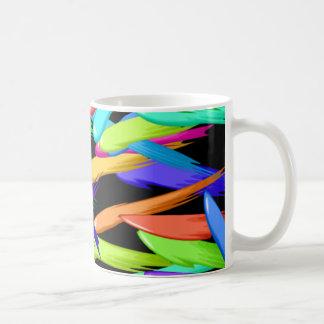 Mug Peignez les filets dans un arc-en-ciel de couleurs