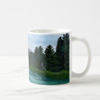 Mug Peinture acrylique de rivière d'arc