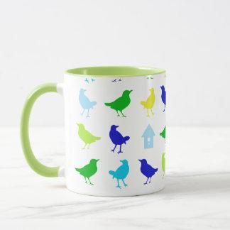 Mug Peinture des oiseaux colorés par Chariklia Zarris