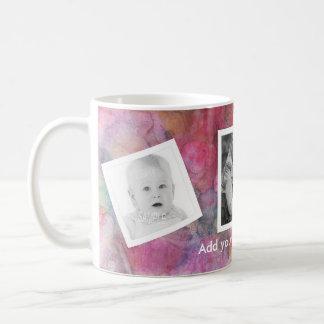 Mug Peinture géniale d'abrégé sur rose avec les photos