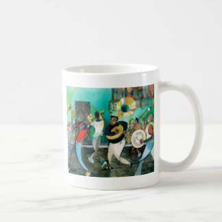 """Mug Peinture """"jazz de musique de la Nouvelle-Orléans """""""