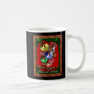 Mug Pentagone étoilé béni de Noël de Wicca de Noël