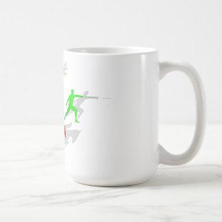 Mug Pentathlon clôturant sauter de natation de tir
