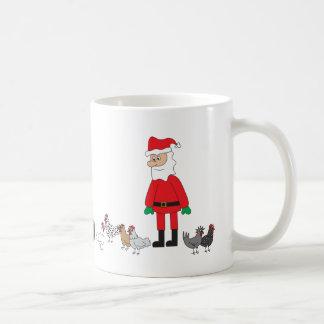 Mug Père Noël et poulets