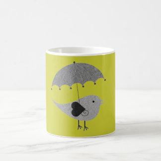 Mug Perruche mignonne avec le parapluie