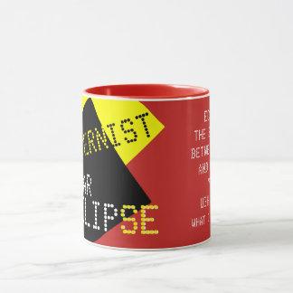 Mug Personnalisable drôle moderniste d'éclipse solaire