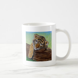 Mug Petit animal de tigre somnolent