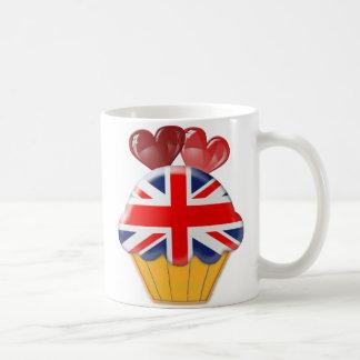 Mug Petit gâteau et coeurs d'Union Jack