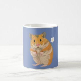 Mug Petit hamster mignon tenant une fleur