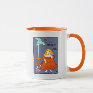 Mug Petite fille vintage, perroquet, annonce de