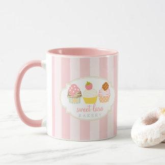 Mug Petits gâteaux doux de café de boulangerie rétros
