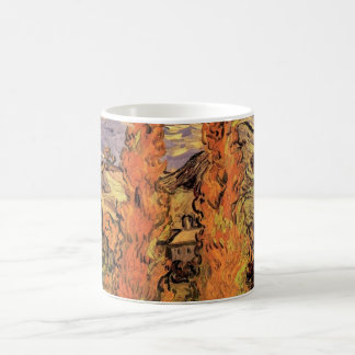 Mug Peupliers de Van Gogh deux sur une route par les