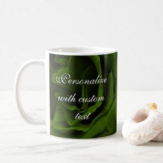 Mug Photo veloutée riche de fleur de roses de vert