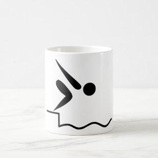 Mug Pictogramme de natation