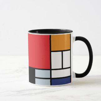 Mug Piet Mondrian - composition avec le grand avion