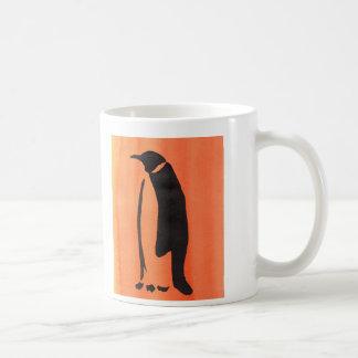 Mug Pingouin sur l'orange