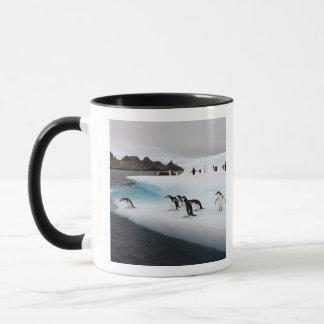 Mug pingouins de jugulaire, Pygoscelis Antarctique, 2