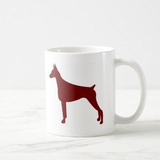 Mug Pinscher de dobermann (rouge)