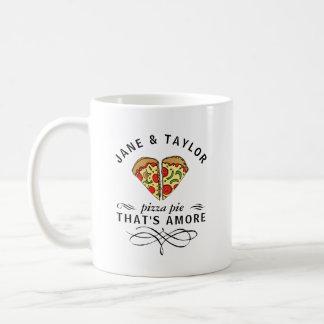 Mug Pizza d'amour personnalisée