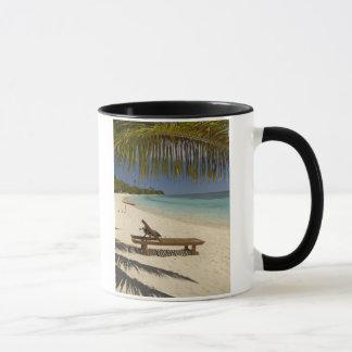 Mug Plage, palmiers et fainéant