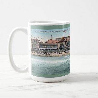 Mug Plage vintage de Santa Cruz et parc d'attractions