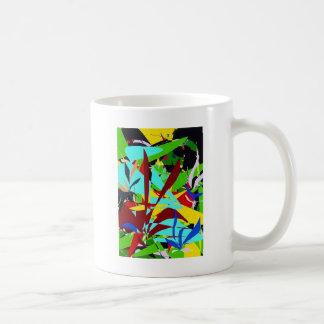 Mug Plantes de jungle d'art abstrait