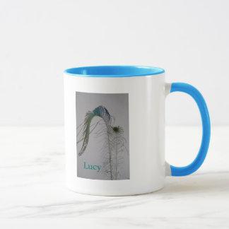 Mug Plumes élégantes de paon de beaux-arts du © P