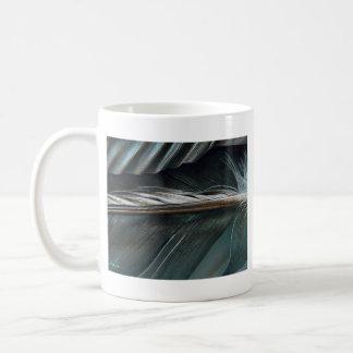 Mug plumes noires et blanches