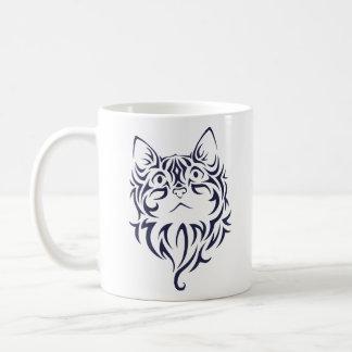 Mug Pochoir avant de visage de chaton de chat de